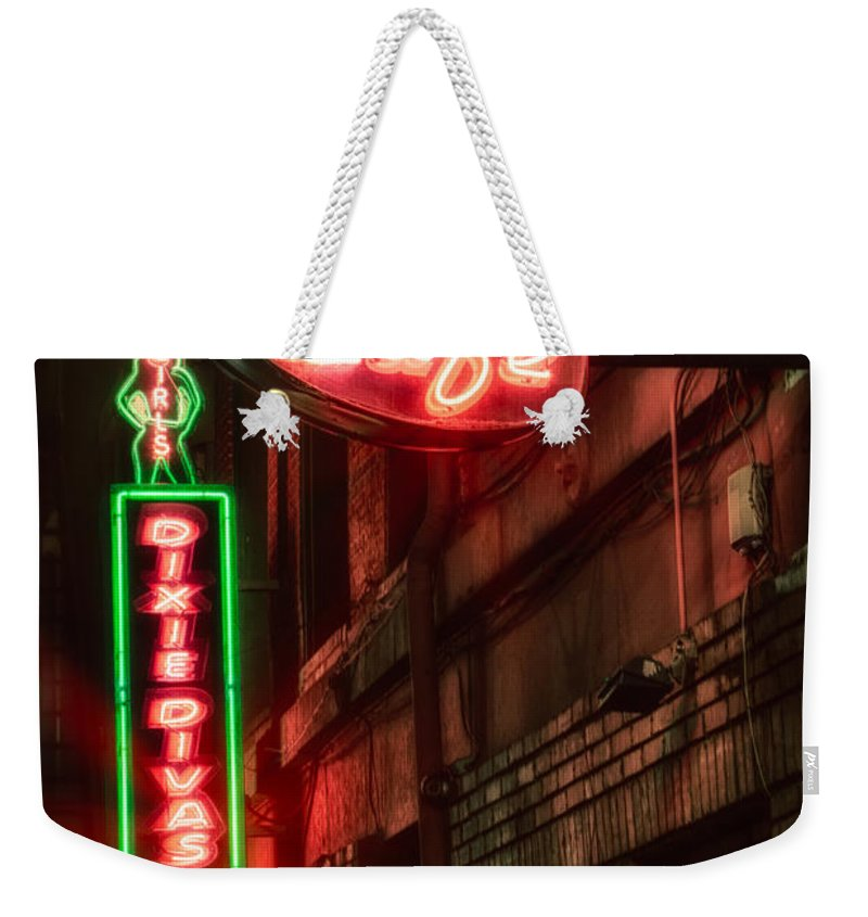 Bar Weekender Tote Bag featuring the photograph Artist Cafe by Jerry Fornarotto
