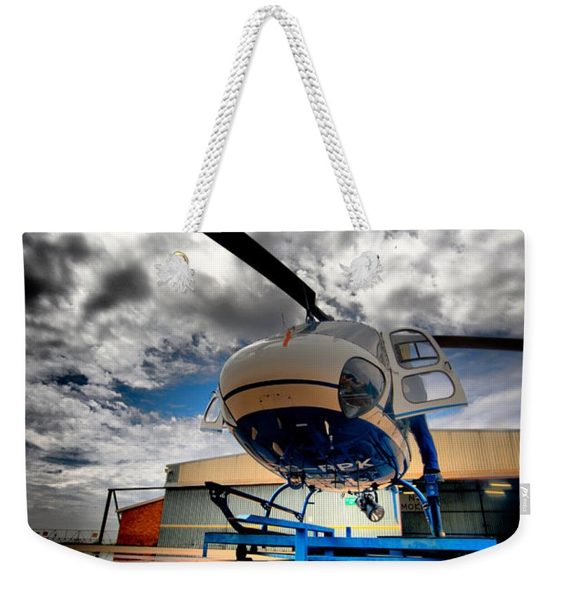 Eurocopter As350 Ecureuil (squirrel) Weekender Tote Bag featuring the photograph Artistic Squirrel by Paul Job