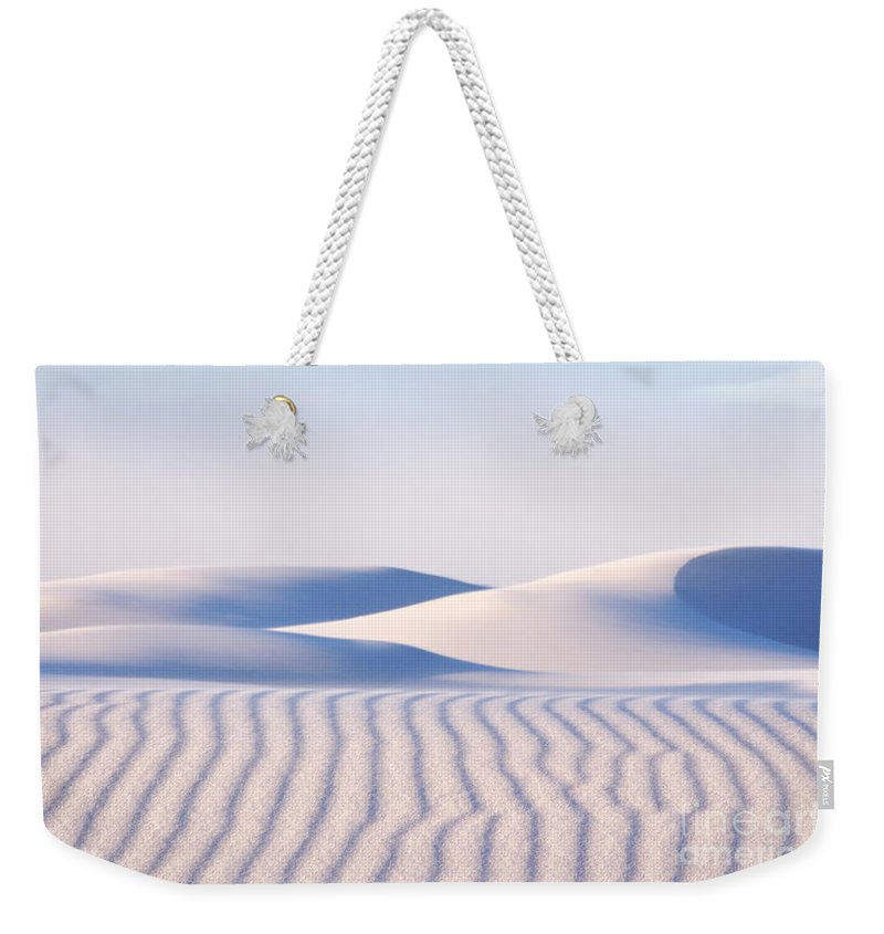 White Sands Weekender Tote Bag featuring the photograph Artistry In The Sand by Vivian Christopher