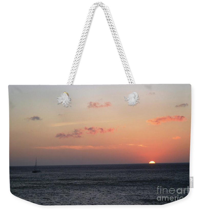 Sunset Weekender Tote Bag featuring the photograph Aruba Sunset by Living Color Photography Lorraine Lynch