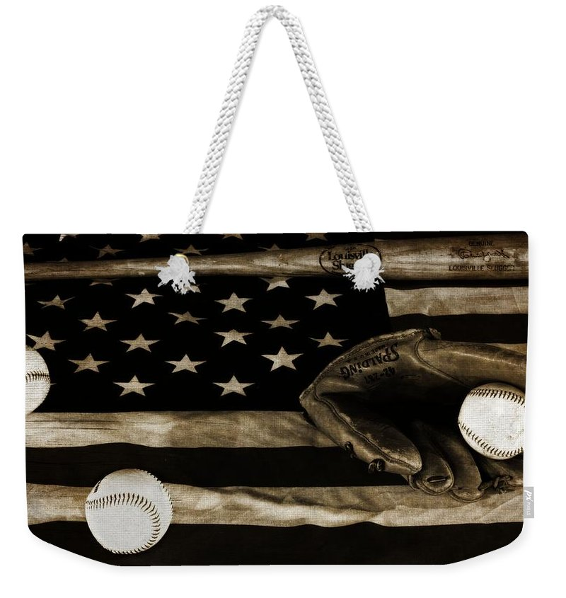 Baseball An American Tradition Weekender Tote Bag featuring the photograph As American As Apple Pie by Dan Sproul