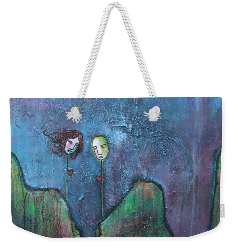 Lollipop Heads Weekender Tote Bag featuring the painting As You Wish by Laurie Maves ART