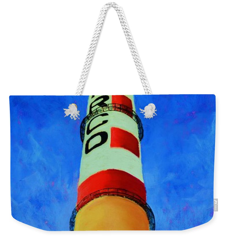 Asarco Weekender Tote Bag featuring the painting Asarco by Melinda Etzold
