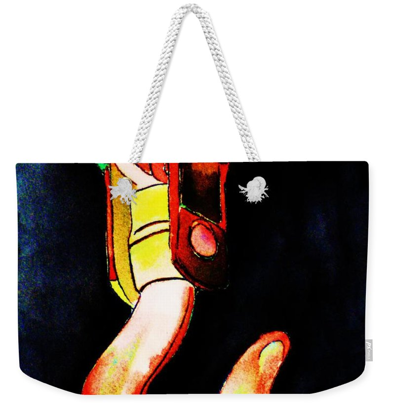 Asarco Weekender Tote Bag featuring the painting Asarco Powerhouse Hook by Melinda Etzold
