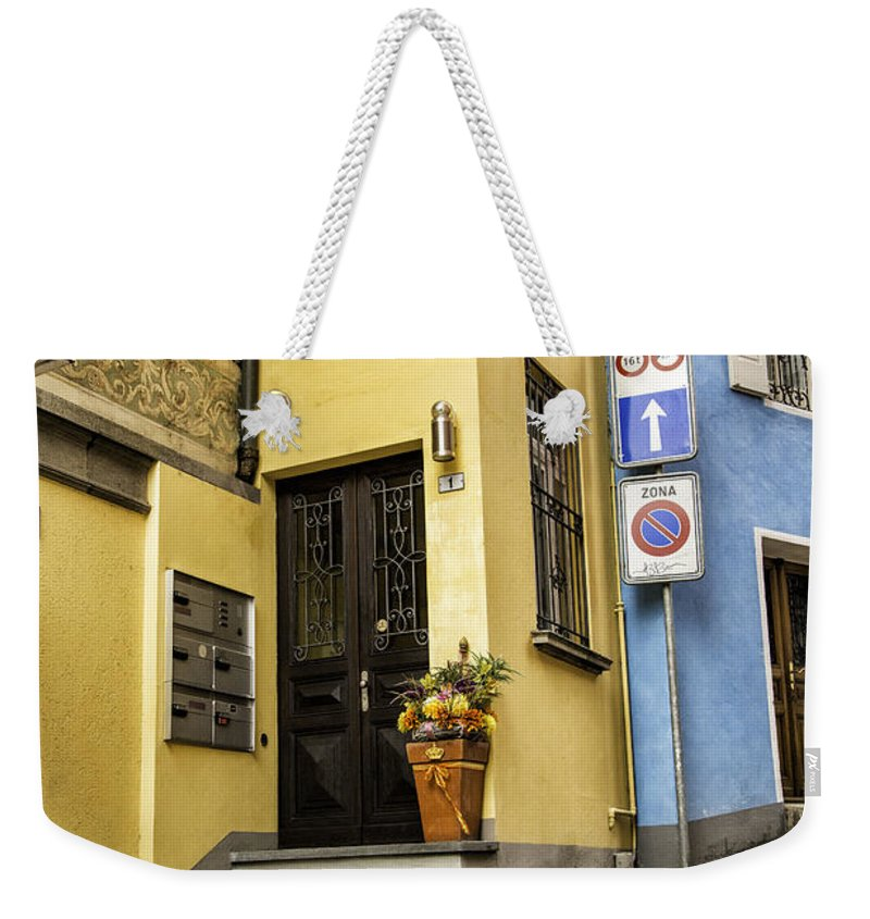 Switzerland Weekender Tote Bag featuring the photograph Ascona Alley by Timothy Hacker