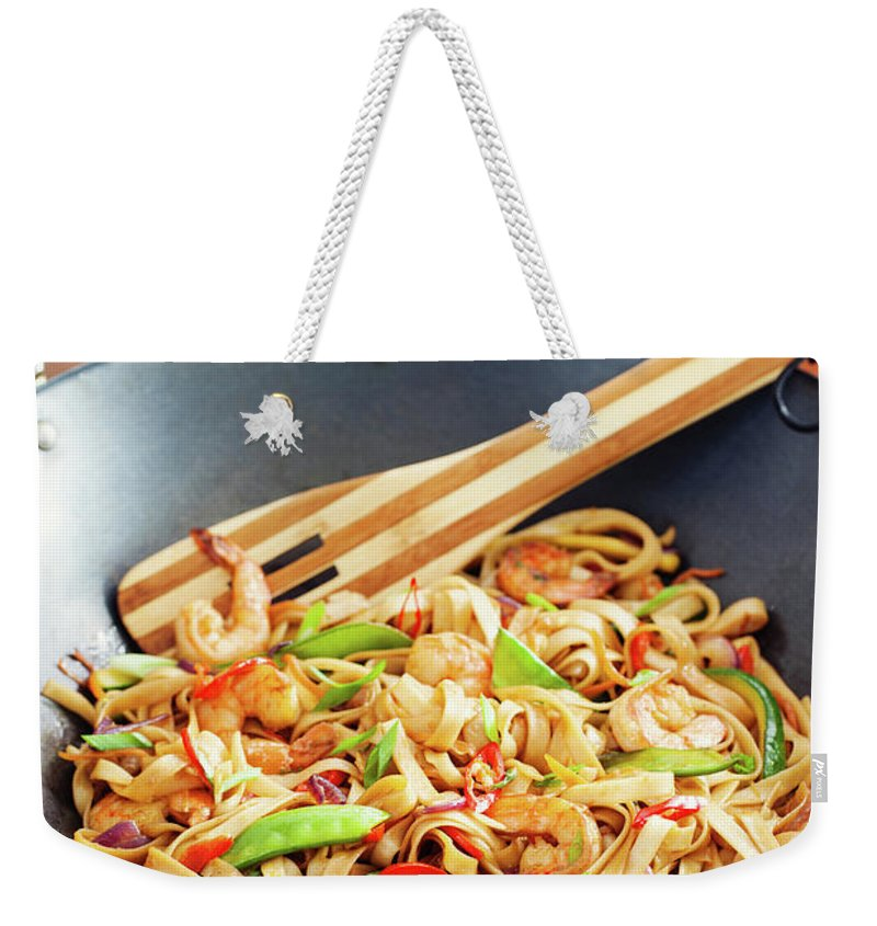 Chinese Culture Weekender Tote Bag featuring the photograph Asian Noodle In Wok by 5ugarless