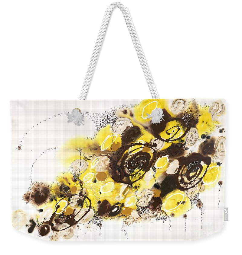 Aspen Weekender Tote Bag featuring the painting Aspen Celebration #4 by Nadine Rippelmeyer