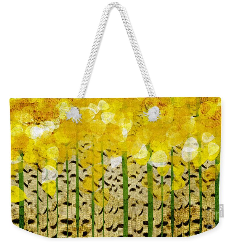 Abstract Weekender Tote Bag featuring the digital art Aspen Colorado Abstract Panorama by Andee Design
