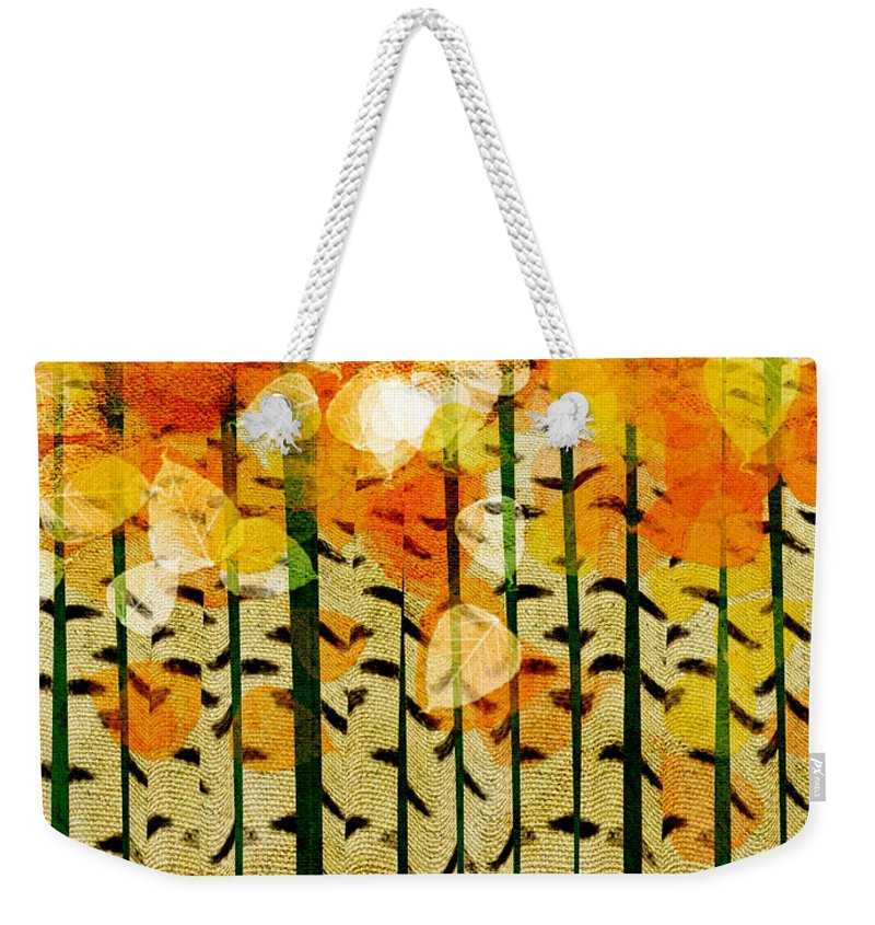 Abstract Weekender Tote Bag featuring the digital art Aspen Colorado Abstract Square 4 by Andee Design