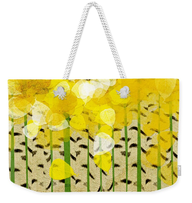 Abstract Weekender Tote Bag featuring the digital art Aspen Colorado Abstract Square by Andee Design