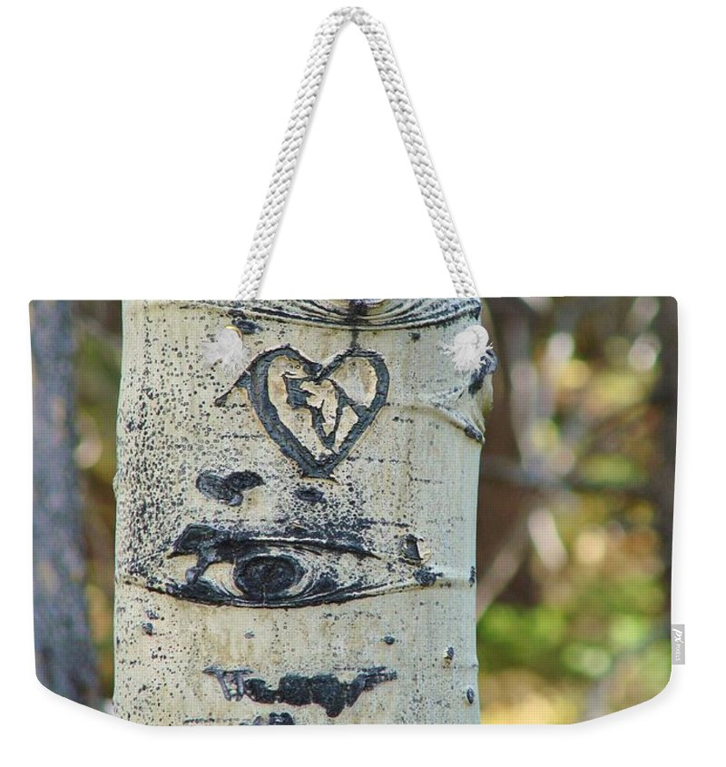 Aspen Weekender Tote Bag featuring the photograph Aspen Love by Margaret Bobb