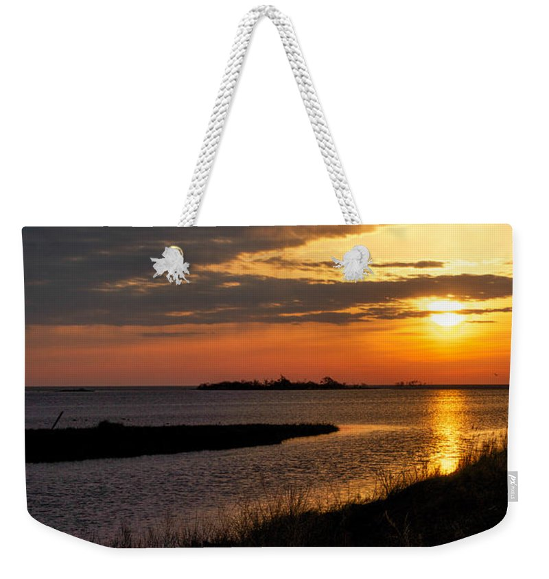 Assateague Weekender Tote Bag featuring the photograph Assateague Sunrise Vertical by Photographic Arts And Design Studio