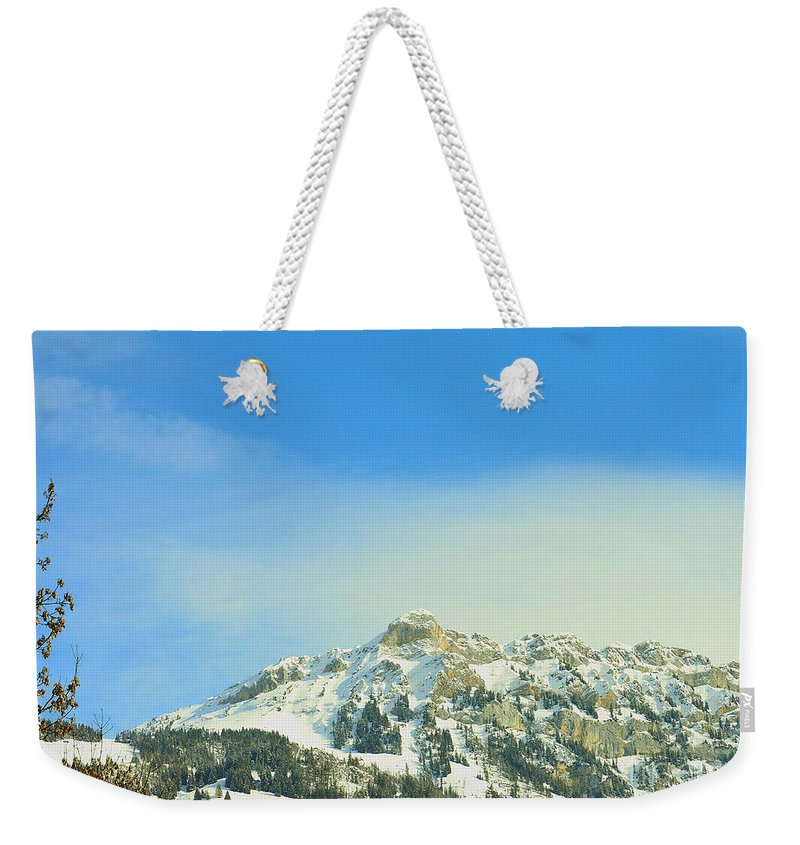 Alps Weekender Tote Bag featuring the photograph Assertive Outlook by Felicia Tica