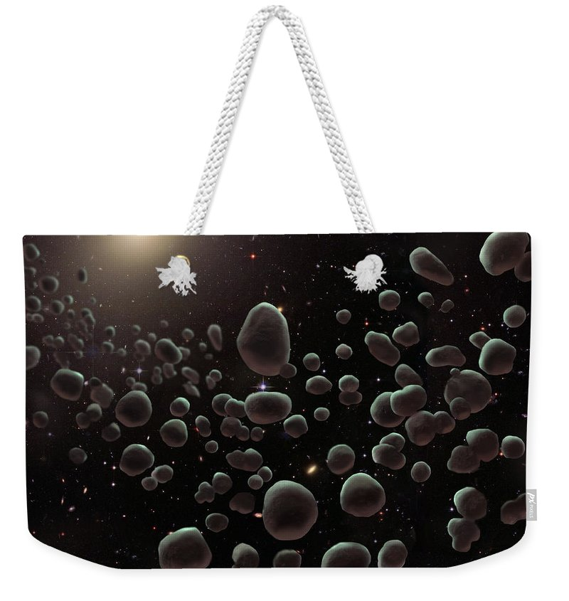 Art Weekender Tote Bag featuring the photograph Asteroid Belt, Illustration by Spencer Sutton