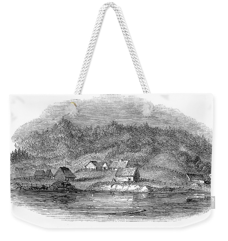 1843 Weekender Tote Bag featuring the painting Astoria, Oregon by Granger