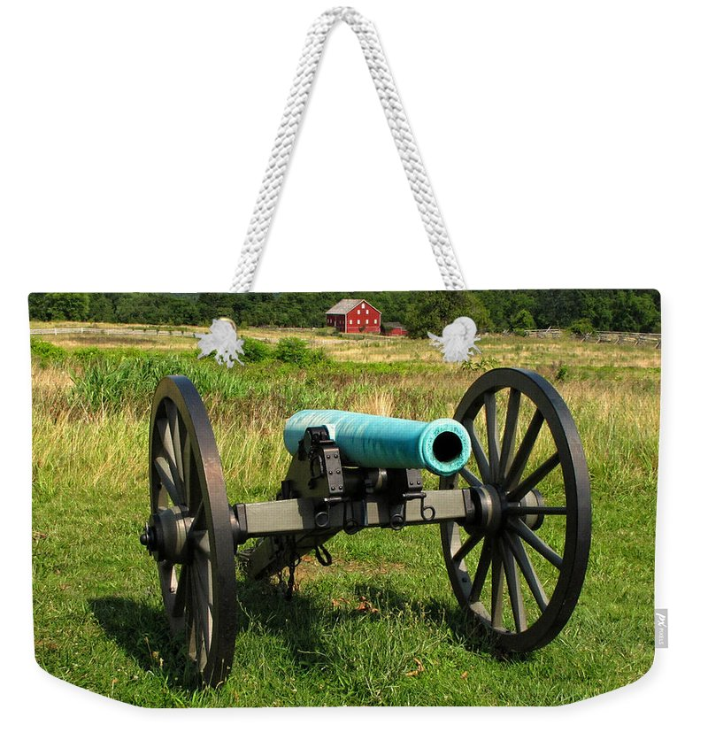 Cannon Weekender Tote Bag featuring the photograph At Gettysburg by Dave Mills