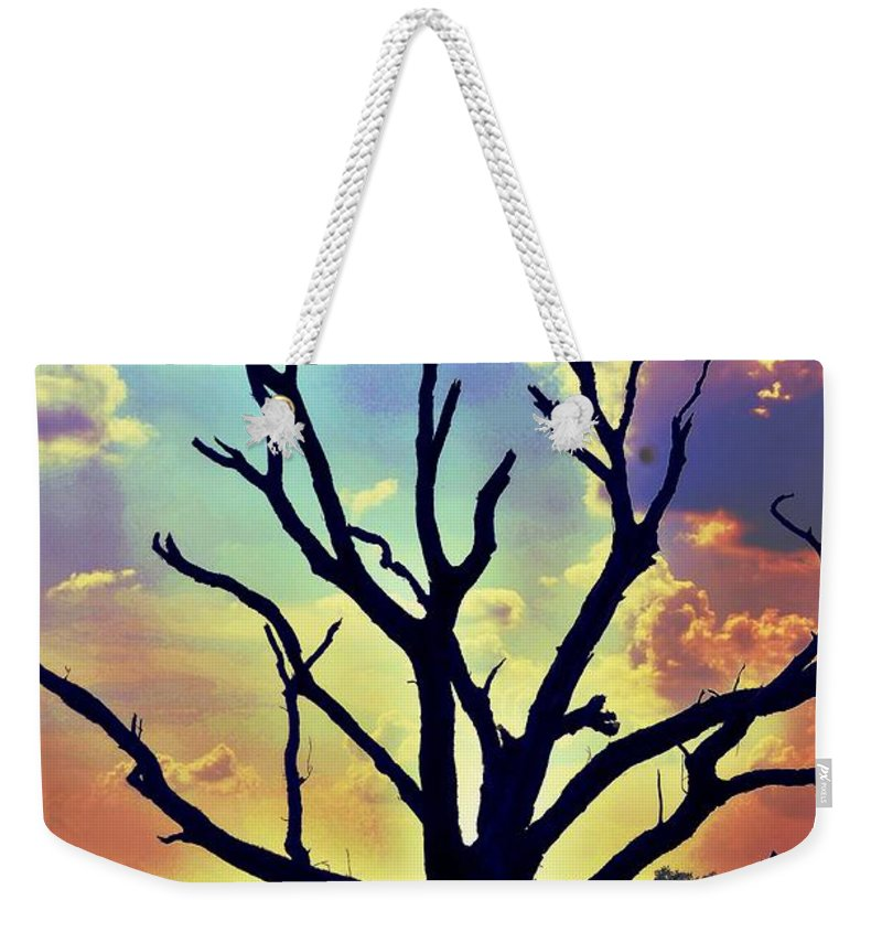 At Life's End There Is Light Weekender Tote Bag featuring the digital art At Life's End There Is Light by Maria Urso