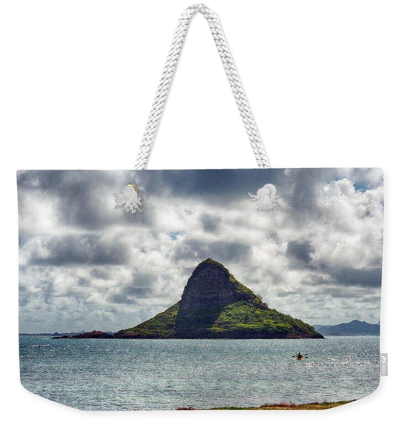 Hawaii Weekender Tote Bag featuring the photograph At Mokoli'i's Summit by Dan McManus