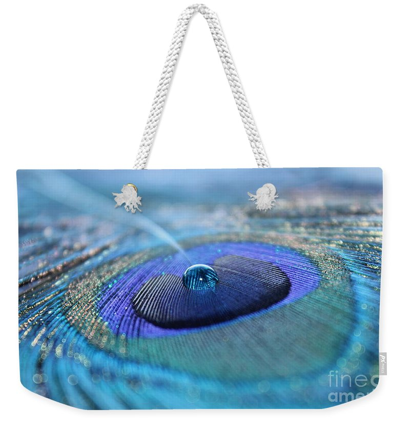 Feather Weekender Tote Bag featuring the photograph At Peace by Krissy Katsimbras