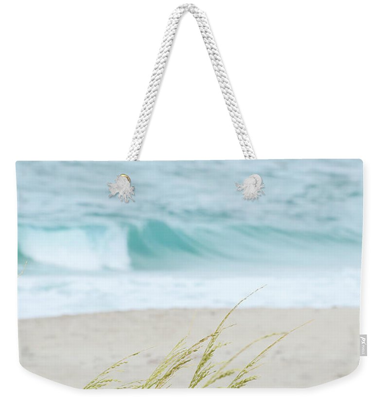 Landscape Weekender Tote Bag featuring the photograph By The Sea by Sabrina L Ryan