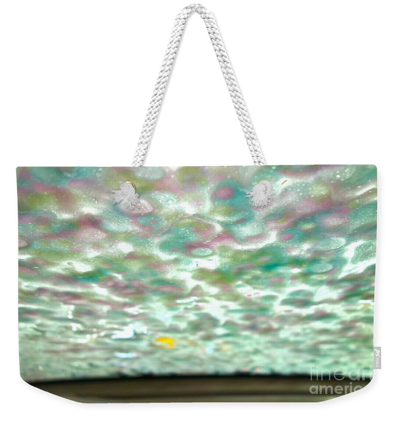 Car Wash Weekender Tote Bag featuring the photograph At The Car Wash 1 by Jacqueline Athmann