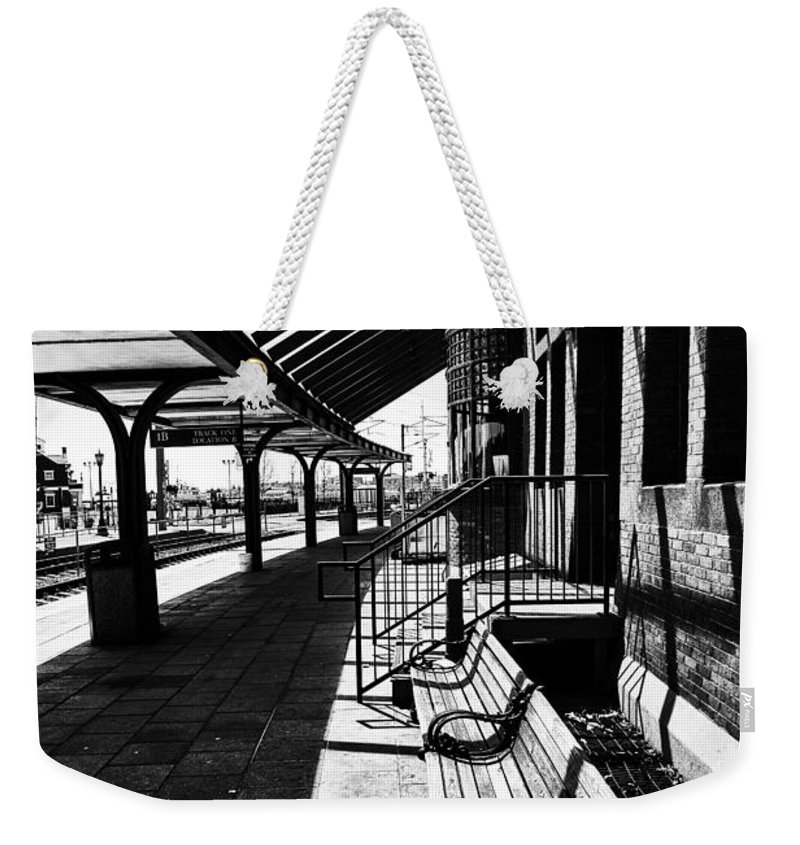 At The Station Weekender Tote Bag featuring the photograph At The Station by Karol Livote