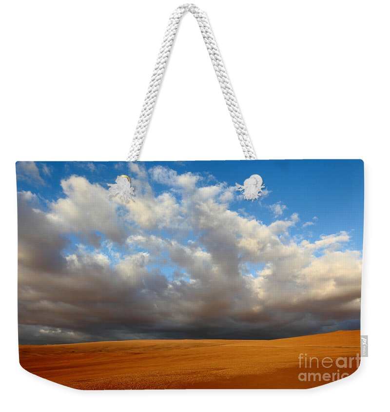 Chile Weekender Tote Bag featuring the photograph Clouds Over The Atacama Desert Chile by James Brunker