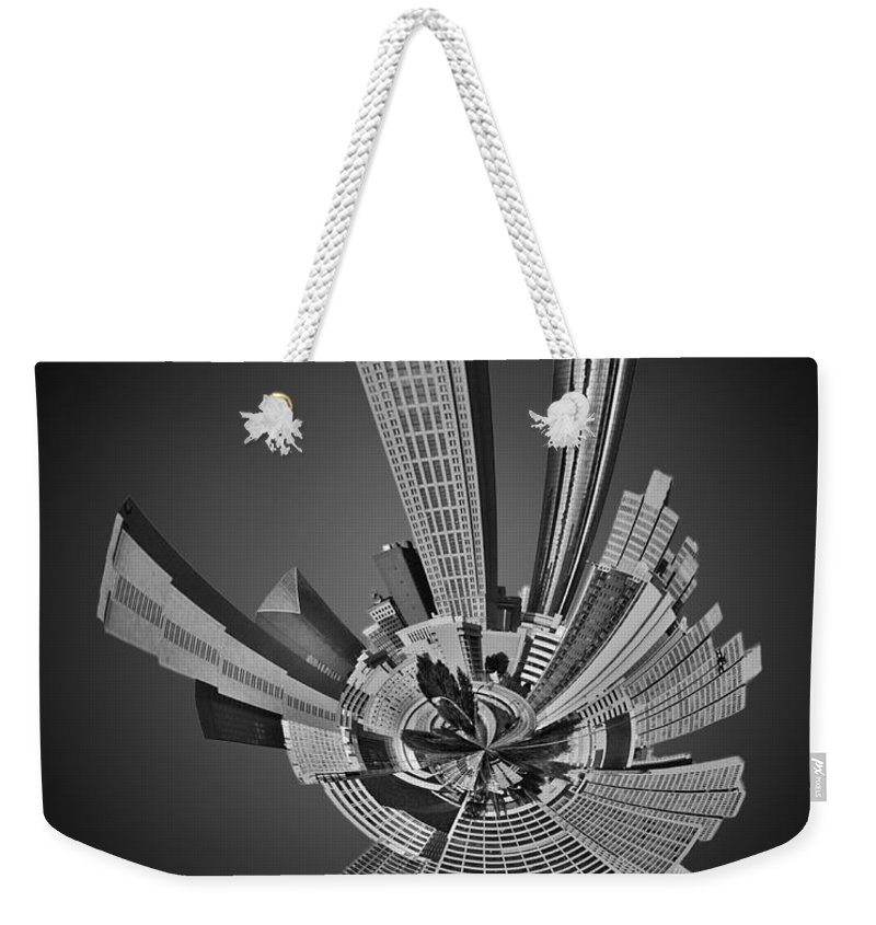 View Weekender Tote Bag featuring the photograph Atlanta Skyline Mini Planet by Alex Grichenko