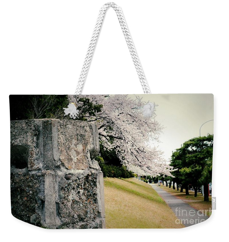 Cherry Weekender Tote Bag featuring the photograph Atsugi Pillbox Walk B by Jay Mann