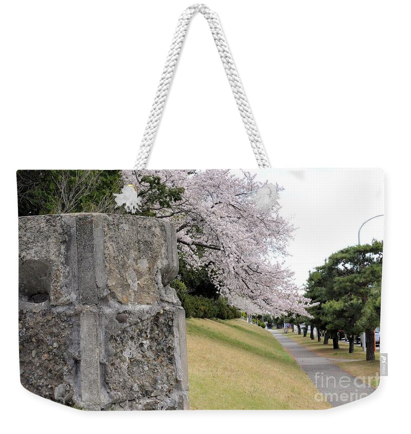 Cherry Weekender Tote Bag featuring the photograph Atsugi Pillbox Walk by Jay Mann