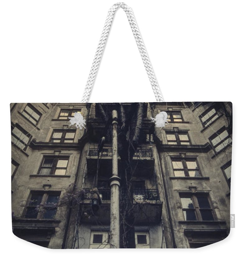 Old Weekender Tote Bag featuring the photograph Au Revoir by Zapista