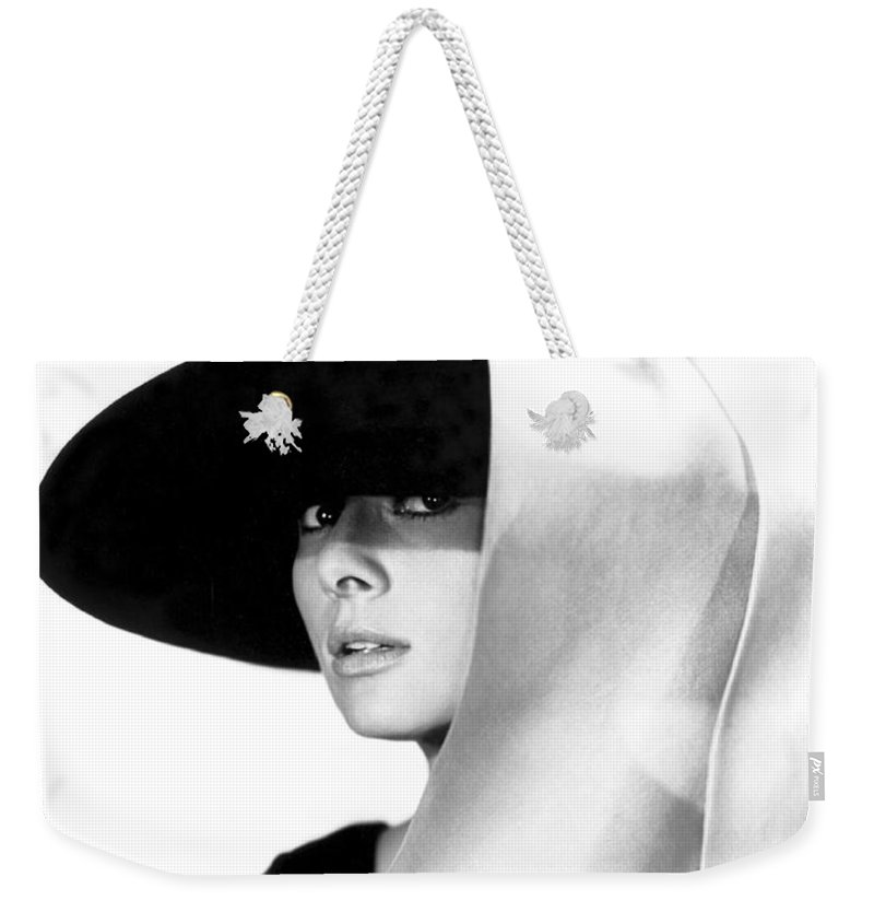 Audrey Weekender Tote Bag featuring the photograph Audrey Hepburn by Daniel Hagerman
