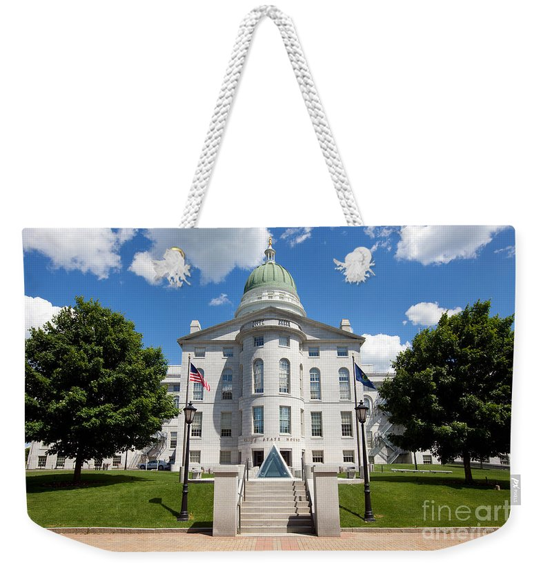 Capitol Building Weekender Tote Bag featuring the photograph Augusta Capitol Building by Bill Cobb