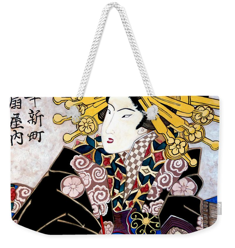 Aunt Annie Weekender Tote Bag featuring the painting Aunt Annie by Tom Roderick