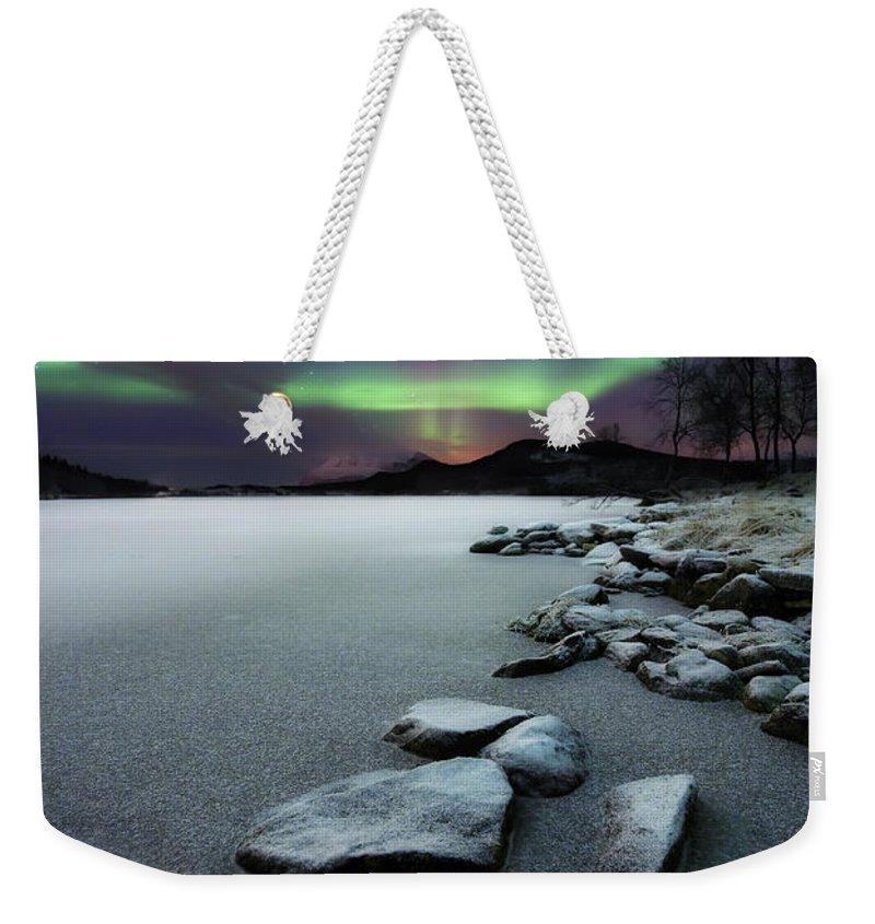 Snow Weekender Tote Bags