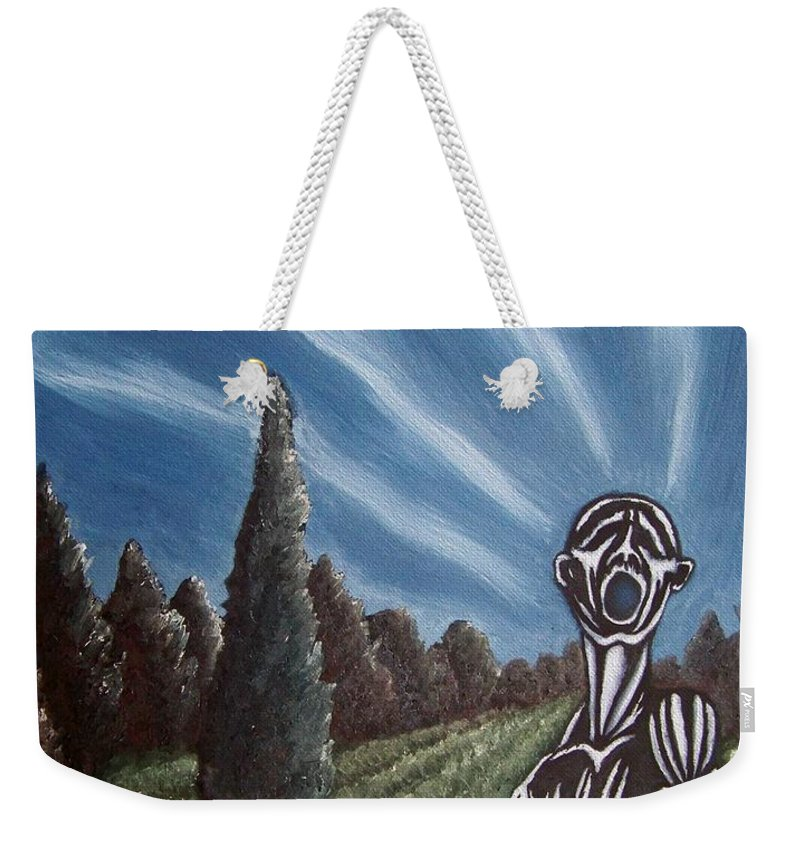 Tmad Weekender Tote Bag featuring the painting Aurora by Michael TMAD Finney