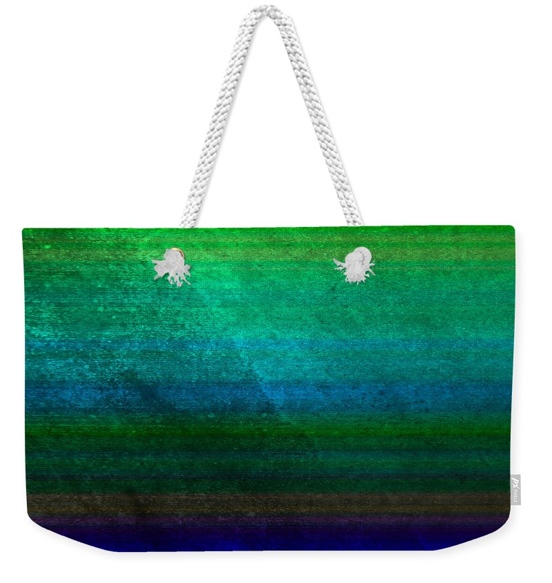 Abstract Weekender Tote Bag featuring the digital art Aurora by Peter Tellone