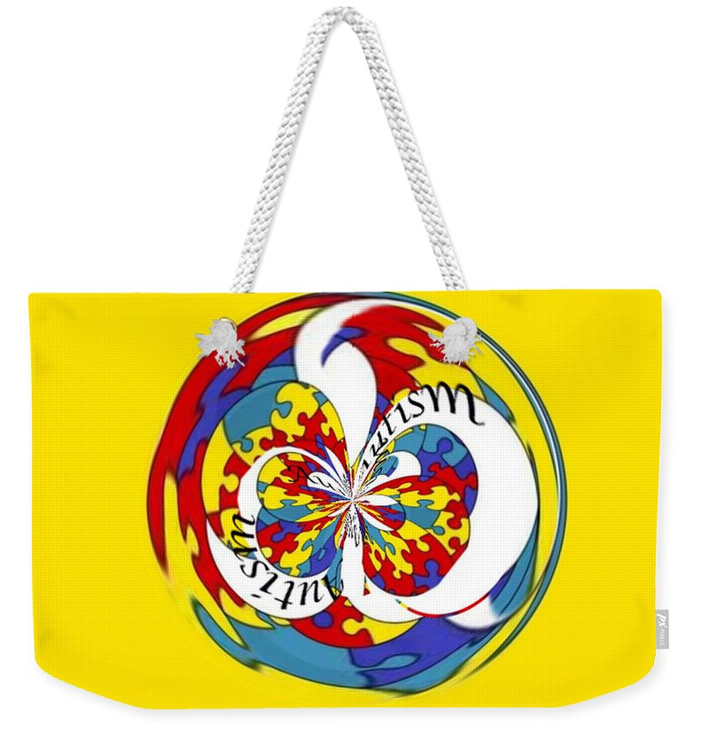 Autism Weekender Tote Bag featuring the photograph Autism Orb by Darleen Stry