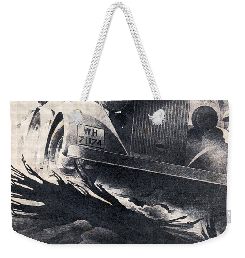 Audi Weekender Tote Bag featuring the drawing Auto Union by Oleg Konin
