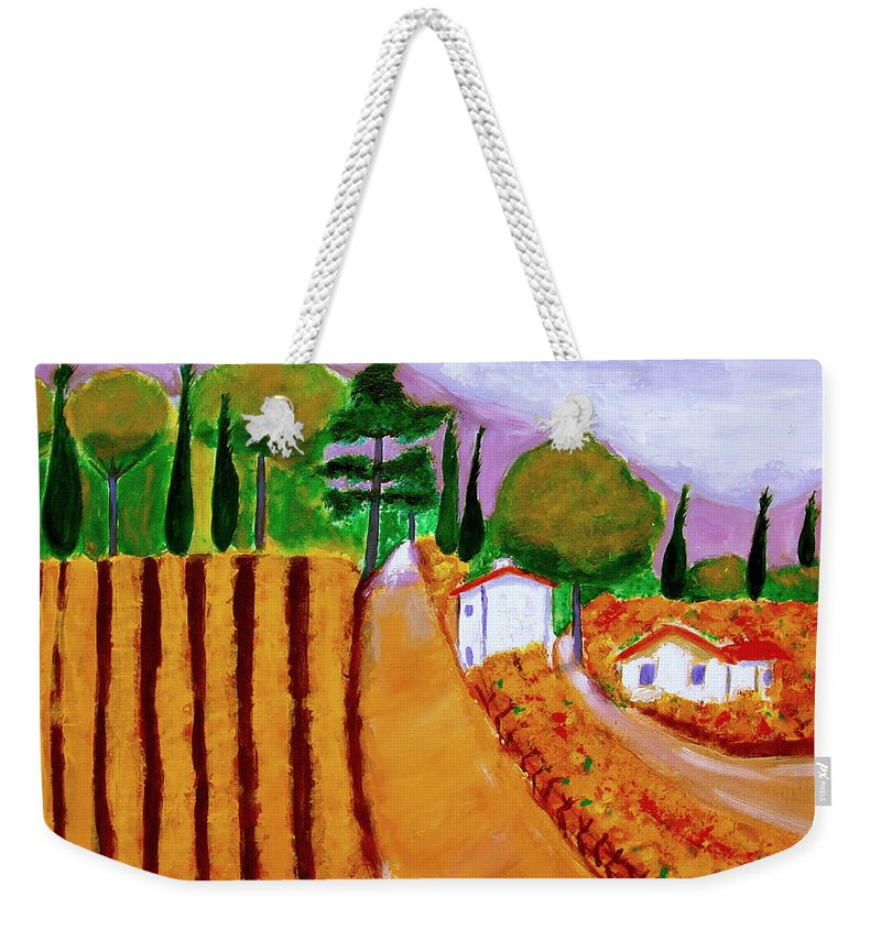 Provence Weekender Tote Bag featuring the painting Automne en Provence by Rusty Gladdish
