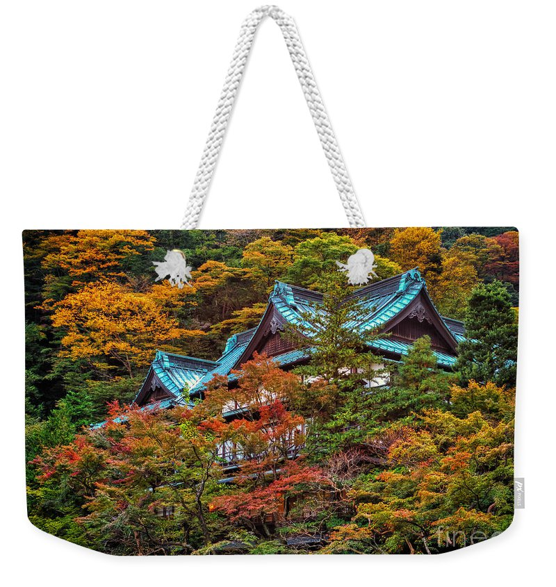 Japan Weekender Tote Bag featuring the photograph Autum In Japan by John Swartz