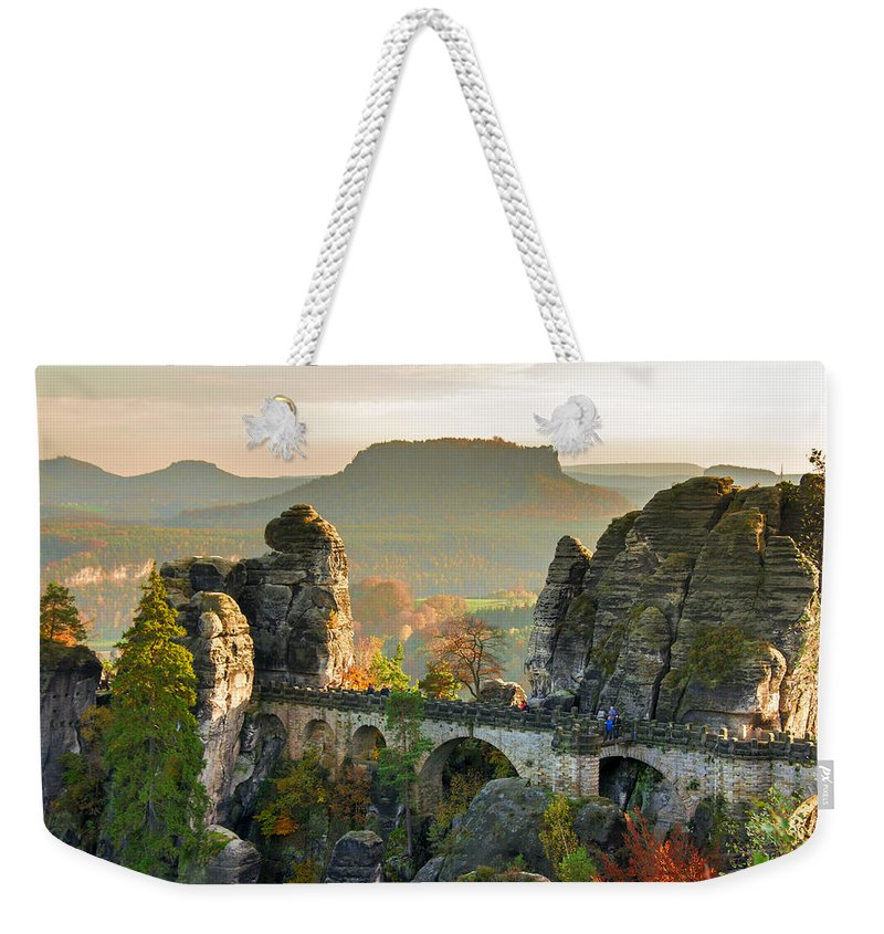 Germany Weekender Tote Bag featuring the photograph Autumn Afternoon On The Bastei Bridge by Sun Travels