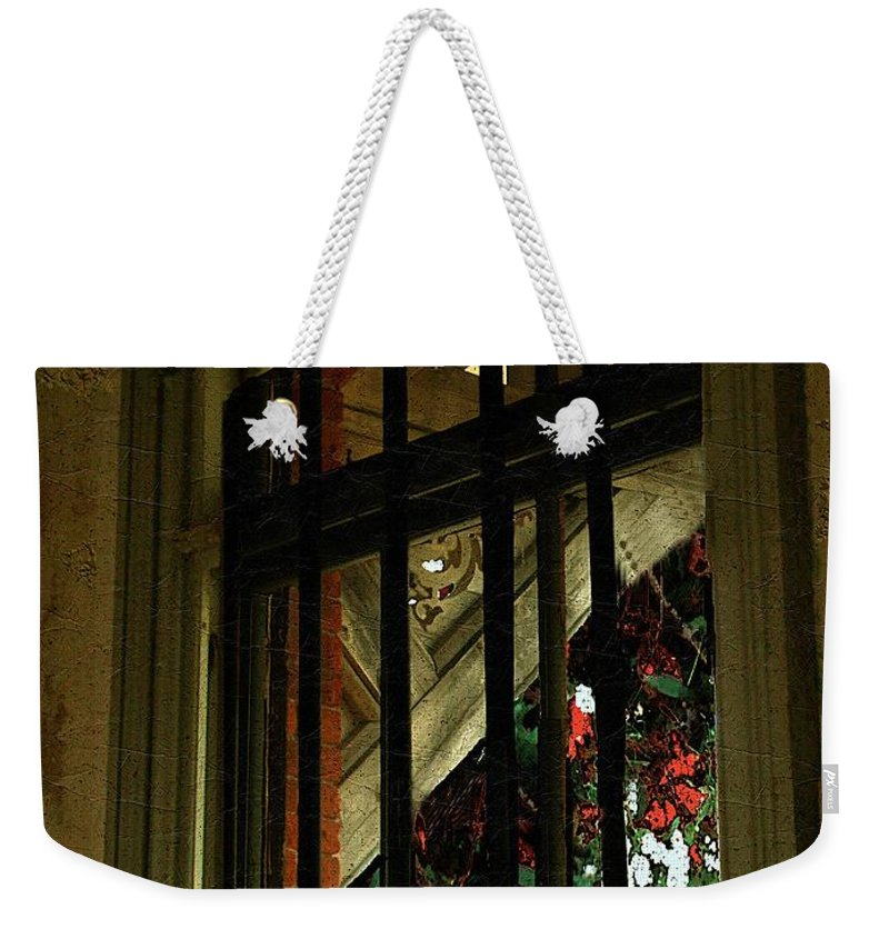 Window Weekender Tote Bag featuring the painting Autumn At The Old Sanitarium by RC DeWinter