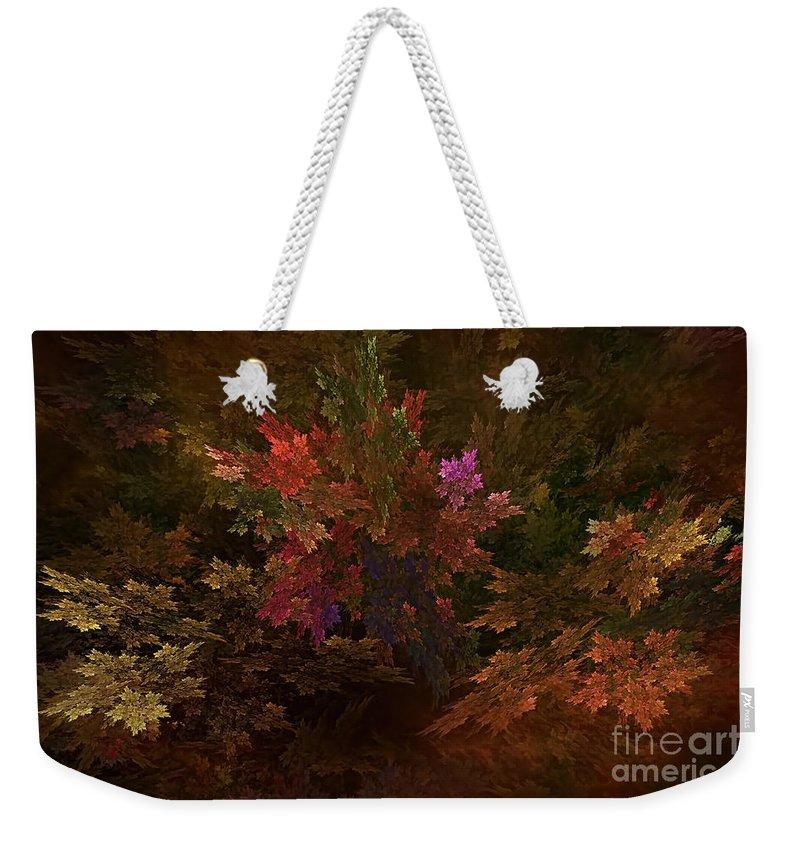 Autumn Weekender Tote Bag featuring the digital art Autumn Bouquet by Olga Hamilton