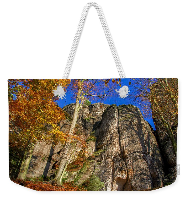 Germany Weekender Tote Bag featuring the photograph Autumn Colors In The Saxon Switzerland by Sun Travels