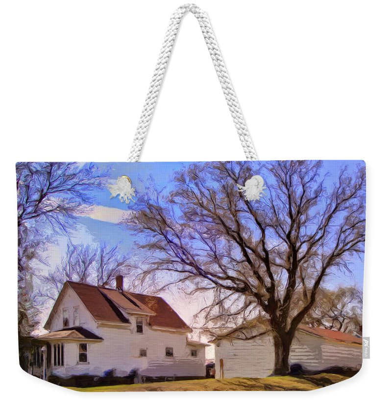 Autumn Day Weekender Tote Bag featuring the painting Autumn Day by Dominic Piperata