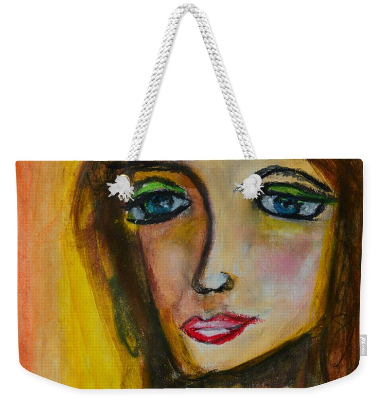 Portrait Weekender Tote Bag featuring the painting Autumn by Donna Blackhall