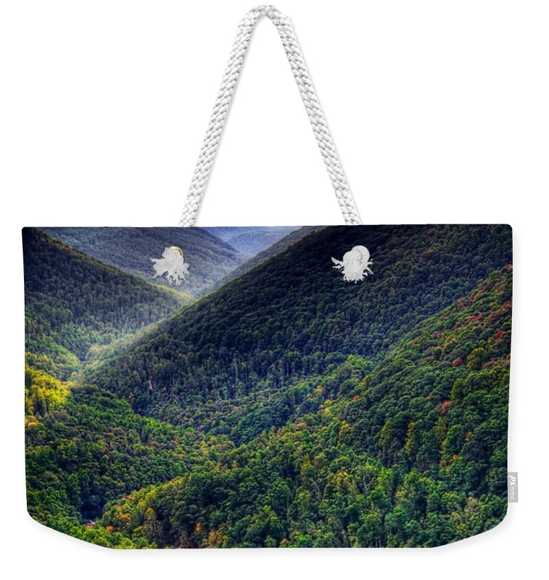 Autumn Weekender Tote Bag featuring the photograph Autumn Drama by David Kay