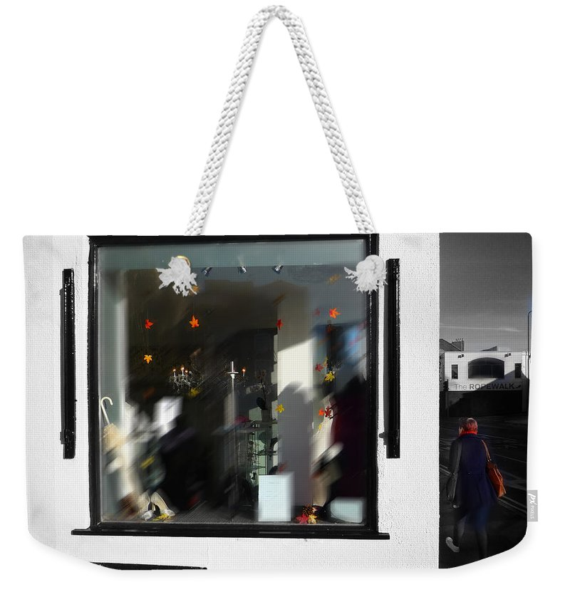 Wedding Weekender Tote Bag featuring the painting Autumn Fall by Charles Stuart