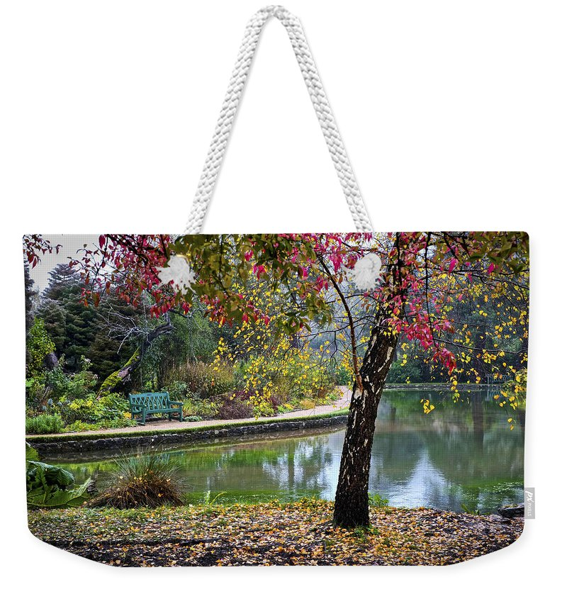 Uk Weekender Tote Bag featuring the photograph Autumn Glory by Christopher Rees
